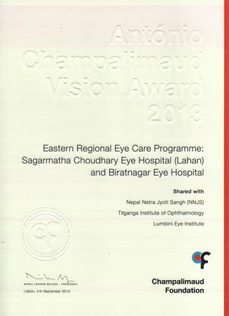 Champalimaud Vision Award Certificate 1